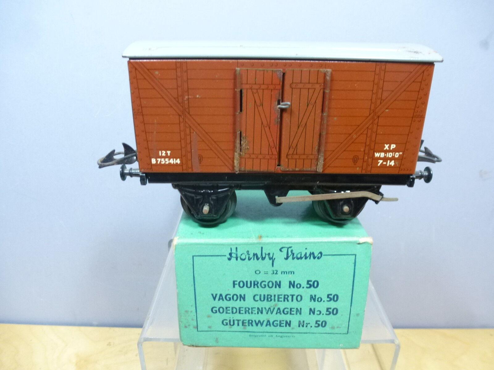 VINTAGE HORNBY '0' GAUGE MODEL No.50  BR 12 Ton    GOODS VAN       VN MIB