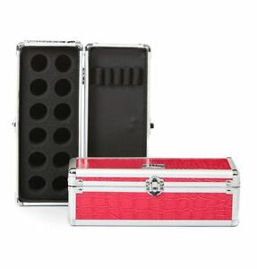 Urbanity-nail-art-glitter-pot-polish-beauty-manicure-tool-case-box-bag-pink-croc
