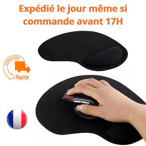 Tapis de souris repose poignet de qualité ergonomique ultra fin noir