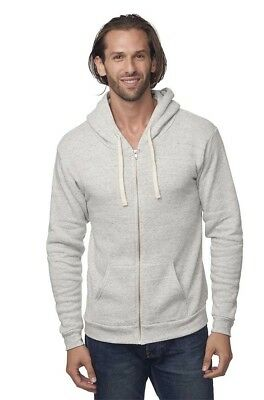 Men/'s 100/% Organic Cotton-Full Zip Hooded Sweatshirt 21050ORG