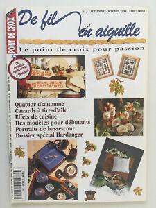Magazine-DE-FIL-EN-AIGUILLE-Point-de-croix-N-3-1998
