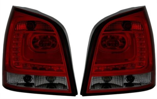 SMOKED 6R STYLE LED REAR TAIL LIGHTS LAMPS FOR VW POLO 9N-9N3 10//2001-05//2009