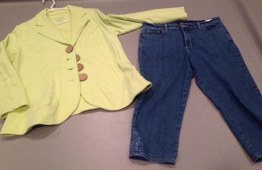 Women's Crop 12 Not Daughters Jeans  66J72
