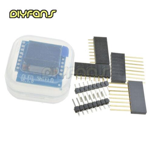 """WeMos D1 mini OLED Schild  V1.0//V2.0 0.66/"""" inch 64X48 IIC I2C"""