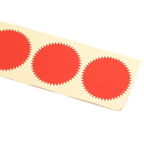 100 Pcs Gold Gear Blank 45mm Stickers Labels Engraver Marking Stamp Stickers Z