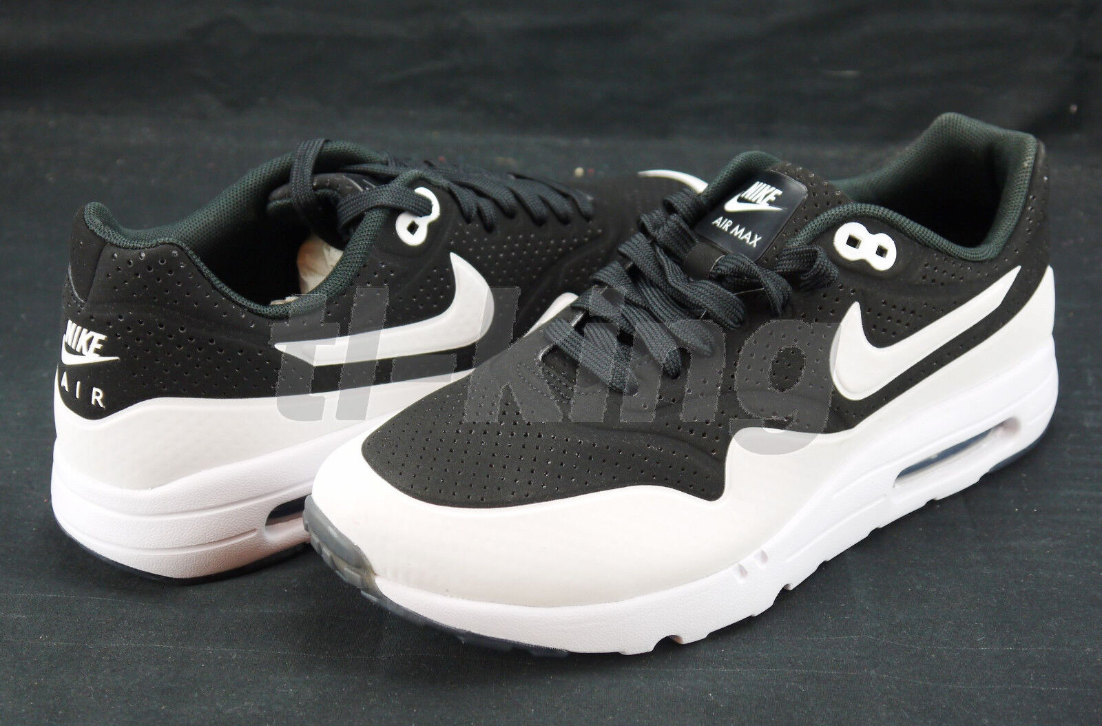 free shipping Nike Air Max 1 Ultra Moire Black White 3M