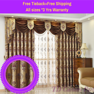Image Is Loading Swag Valance Coffee Brown Cuccino Bedroom Curtain D