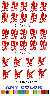 HATCHETMAN STICKERS  DECALS   ANY COLOR  INSANE CLOWN   JUGGALO