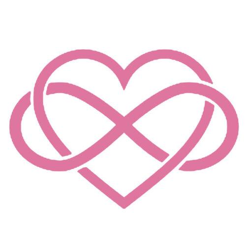 40x58 cm à 60x86 cm COEUR015 Sticker Déco murale Amour Coeur à l/'infini XXL