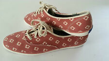 KEDS - CHAMPION DOT RED PLIMSOLLS - SIZE 7 - 20,000+ F/BACK! KD1