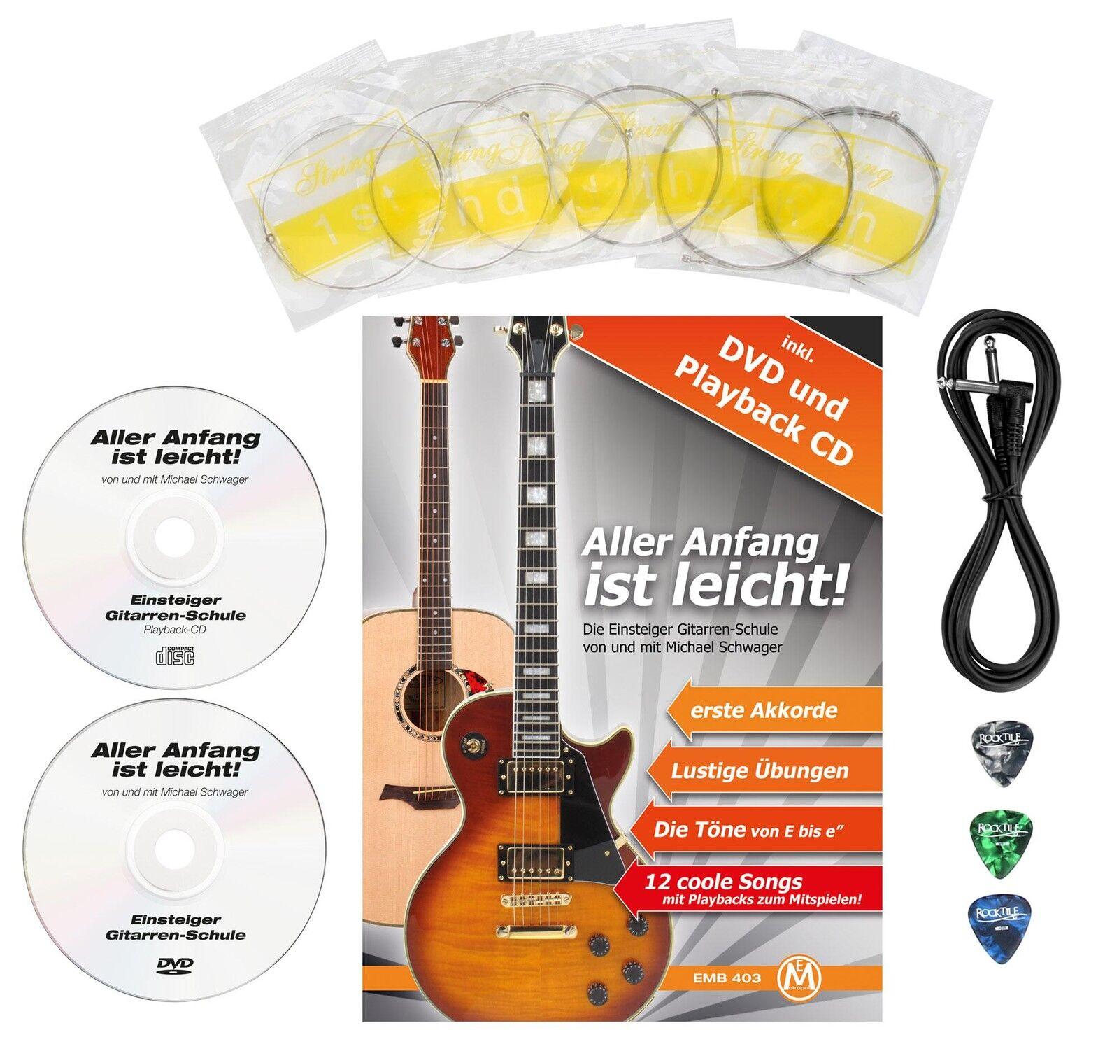 Top zurdo con e-guitarra con zurdo gran pulidores ideal para los principiantes en la música 1f3492