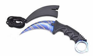Elfmonkey® Karambit Messer Jagdmesser Outdoormesser Csgo Blue Tiger Eine VollstäNdige Palette Von Spezifikationen
