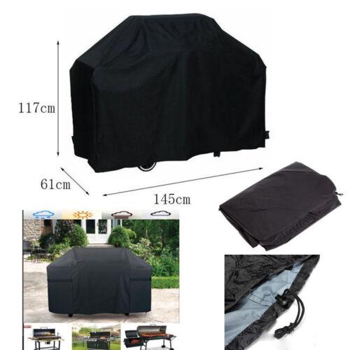 "58/"" BBQ Cover Grill au Gaz Heavy Duty Waterproof Outdoor Weber capot noir"