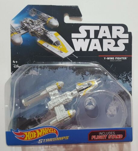 GOLD LEADER BLISTERATO HOT WHEELS STAR WARS STARSHIPS Y-WING FIGHTER