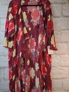 Nuovo-con-etichette-lularoe-Shirley-piccoli-Kimono-Floreale-Bellissimo