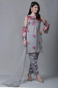 c95a8c92f2 Eid Pakistani Designer Stitched 3 Piece Suit (Shirt,Trouser, Dupatta ...