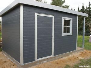 go iso hochwertiges gartenhaus isoliert anthrazitgrau 4 00 x 3 00 m ebay. Black Bedroom Furniture Sets. Home Design Ideas