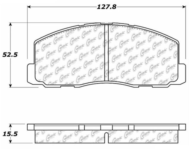 D203 FITS *SEE CHART* RWD BRAND NEW CTEK FRONT BRAKE PADS 102.02030