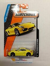 '14 Porsche Cayman #1 YELLOW * 2015 Matchbox * Case F * A57