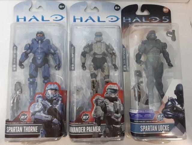 Halo Mcfarlane Figures (Spartan Thorne, Commander Palmer, Spartan Locke) NFS