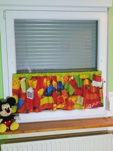 Kinderzimmer Scheiben Gardinen Vorhänge mit LEGO Motiv Neu !!!
