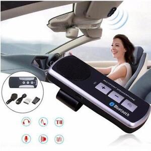 Pop Bluetooth Car Auto Sunvisor Handsfree Kit Wireless Multipoint Speaker Phone