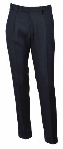 BRIGLIA 1949 uomo pantalone flanella in lana blu slim BG07P 420129 11