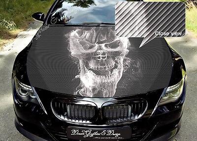 Skull Full Color Graphics Adhesive Vinyl Sticker Fit any Car Hood #140
