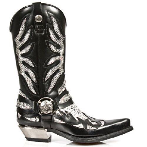 Sale Gr.43 NEW ROCK Cowboystiefel Python gothic schwarz/weiß M.7991-S3 Gr.43 Sale cb0d82