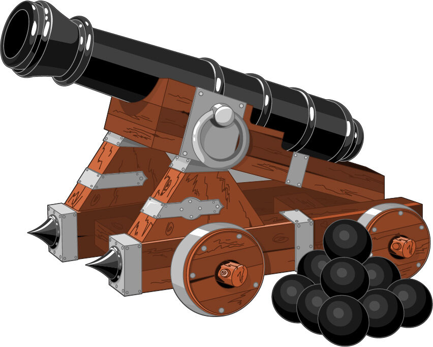 Pegatinas de Parot Niño Canon Pirates Ref 3620