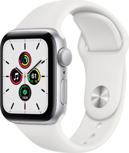 Apple Watch SE GPS 40mm Aluminum MYDM2LL/A Silver White Band