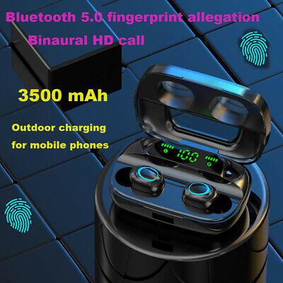 Bluetooth 5.0 Kopfhörer Wireless 3500mAh Headset Mik Ladebox für Samsung iPhone