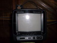 MEMOREX PORTAVISION 16-125 TELEVISION COLOR TV/MONITOR 2-13CH DC12V W/ CASE(MM1)