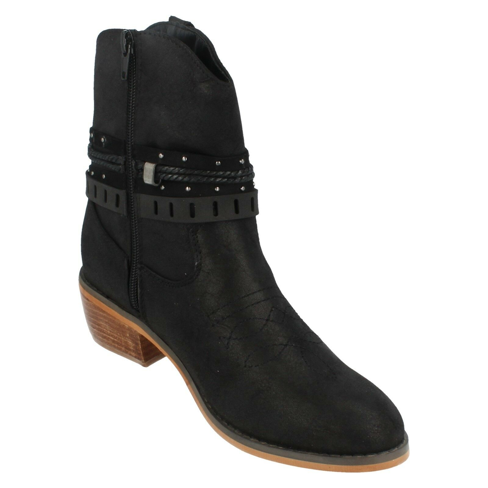 Ladies Ladies Ladies Down To Earth Cowboy Style Ankle Boot F5R0950 dce20f