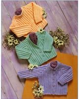 knitting pattern for stunning   baby  cardigan sweater /12  22 in chest in dk