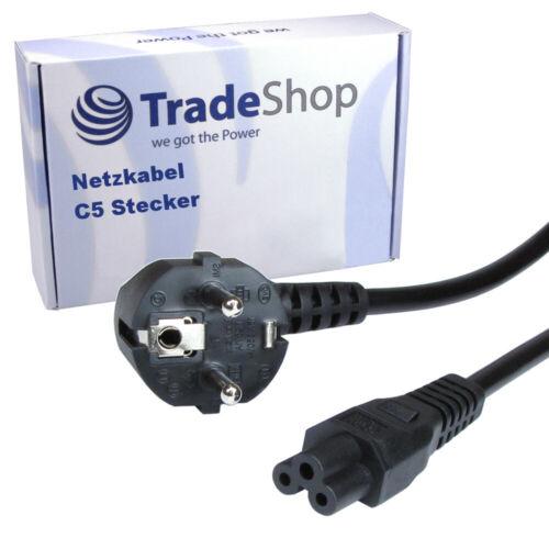 Hochwertiges Netzkabel 250V 2,5A C5 Stecker geeignet für Laptop Notebook Beamer