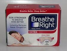 1X Breathe Right Extra Nasal 44 Tan Strips Snoring Adult Nose Sleep Aid Sleeping