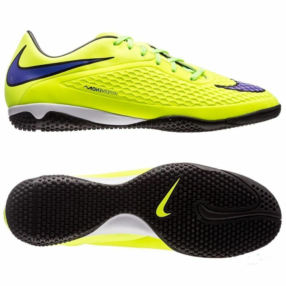 NIKE HYPERVENOM PHELON IC INDOOR SOCCER SHOES Volt Hot Lava Persian purple