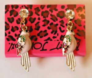Betsey-Johnson-Crystal-Rhinestone-Enamel-Post-Earrings-Bird