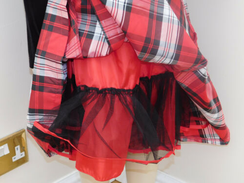BNWT Jona Michelle 2 piece Girls/'party Dress red plaid with jacket