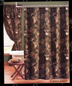 Image Is Loading Browning Camo Deer Fabric Shower Curtain 72 034