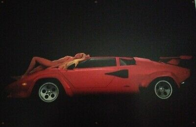 Lamborghini Countach nude Beauty and the Beast Poster / Banner new 36x50