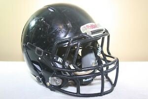 9b20b66fe57 Riddell Youth SPEED Game Used Worn Football Helmet Black Small 2011 ...