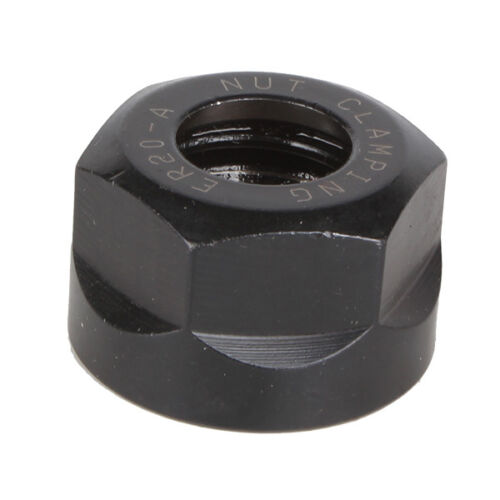 ER20 A type Clamping Collet Nut CNC Milling Lathe Black Oxide Finish