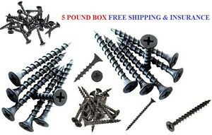 "5 Pound Box Wood screws 1-1//4/"" Drywall"