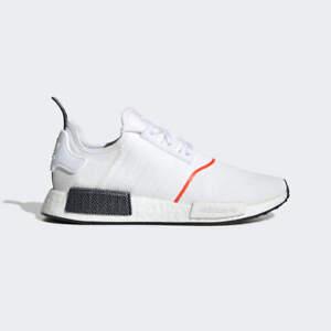 New Adidas Men S Originals Nmd R1 Shoes Cloud White Solar Red Ebay