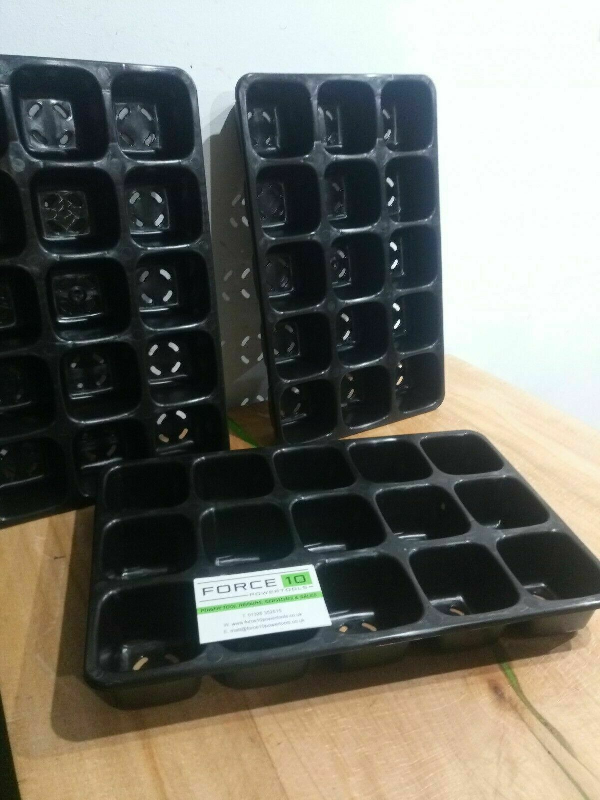 15 Cell VERY Heavy Duty Reusable Seed Trays Eco-Friendly Tough Seedling Starters