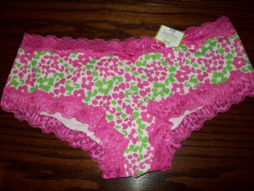 NWT JASMINE GINGER COTTON w LACE WAISTBAND HIPSTER PANTIES animal floral S XL