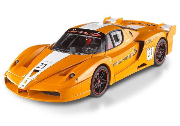 Ferrari FXX équipe solaire Direct  21 Orange Hot Wheels Elite 1 18 Vente avec Bad box