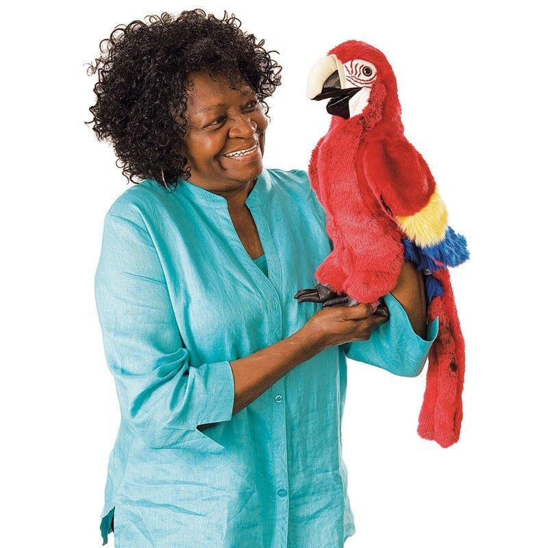 SCARLET MACAW PUPPET  within USA  Folkmanis Puppets